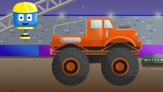 Monster Truck - Tom & Matt the Construction Trucks | Construction Cartoons in 3D for kids