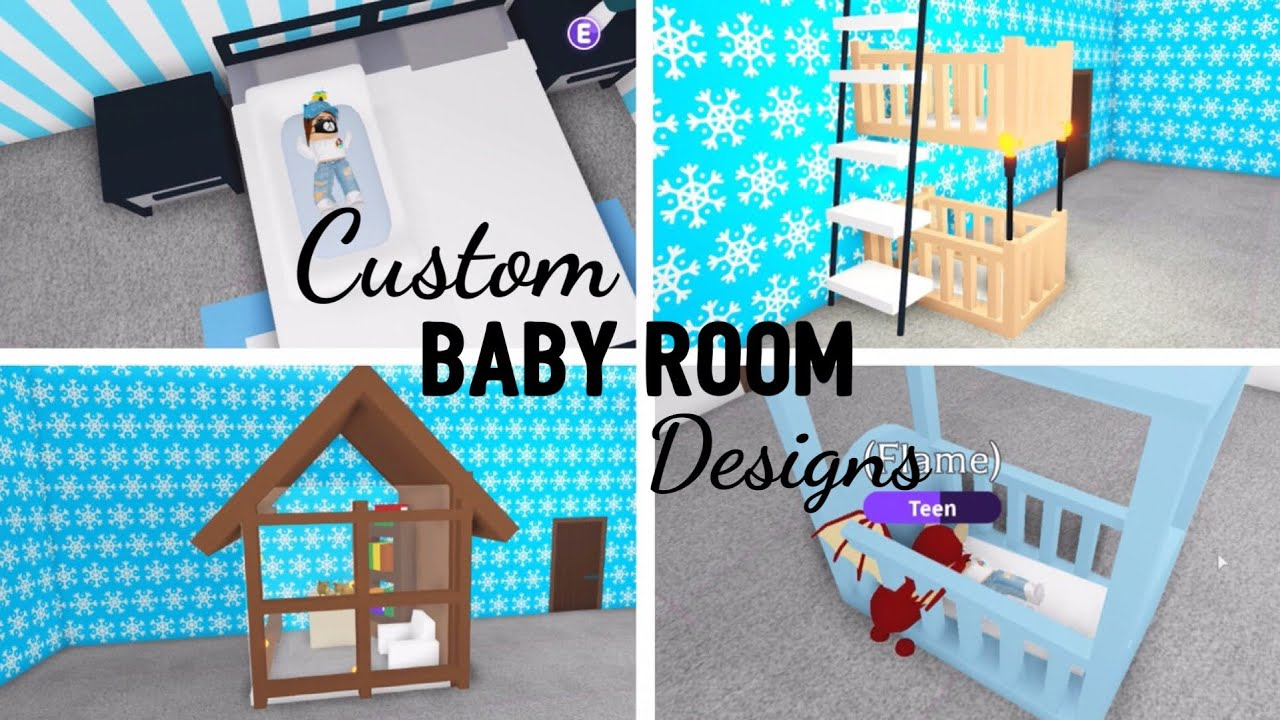 8 Custom BABY ROOM Design Ideas & Building Hacks (Roblox Adopt Me) | Its SugarCoffee - YouTube