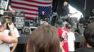 Anti Flag Turncoat The Press Corpse Live Warped Tour Charlotte NC 7 6 17