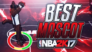 THIS MASCOT IS THE BEST FOR SHOOTING! GREEN LIGHTS ALL DAY NBA 2K17 MY PARK
