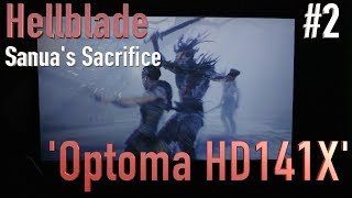 #2 Hellblade - PS4 Projector Gameplay [Optoma HD 141X]