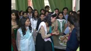 Miss.PRACHI MISHRA-Femina Miss India Earth-2012's visit to her old college (Part-2)