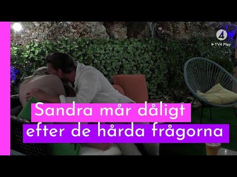 Johan tröstar Sandra efter Sanningscykeln I Love Island Sverige 2018 (TV4 Play)