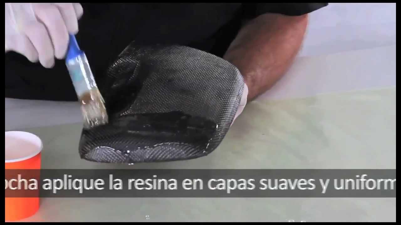 Tutorial de Recubrimiento de Piezas con Fibra de Carbono - YouTube