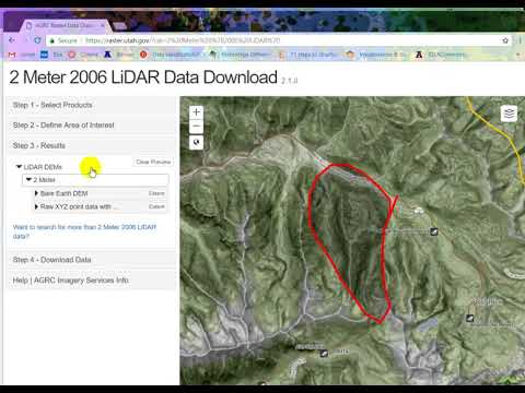 Download lidar tiles from UT AGRC