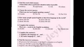 İngilis dili IX sinif KSQ ve cavabları