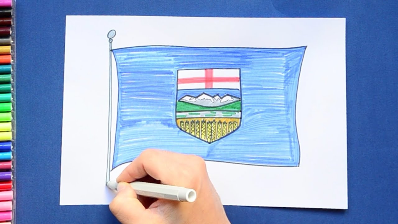 how to draw and color the flag of alberta canada youtube