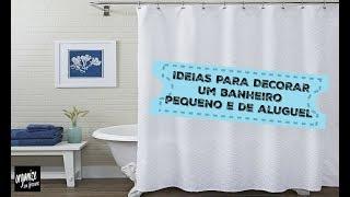 COMO ORGANIZAR E DECORAR UM BANHEIRO PEQUENO OU DE ALUGUEL | Organize sem Frescuras!