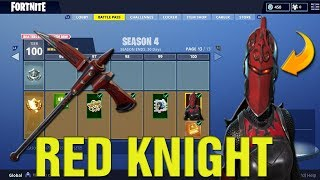 "Fortnite How To Get FREE ""RED KNIGHT"" Skin In Fortnite! New RED KNIGHT Skin Gameplay LIVE!"