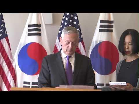 Defense Secretary Mattis and South Korean Minister reaffirm U.S.- R.O.K. alliance 1/26/2018