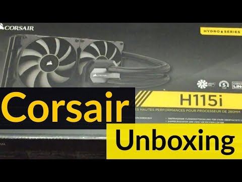 Corsair Hydro Series H115i All in One CPU Cooler Unboxing