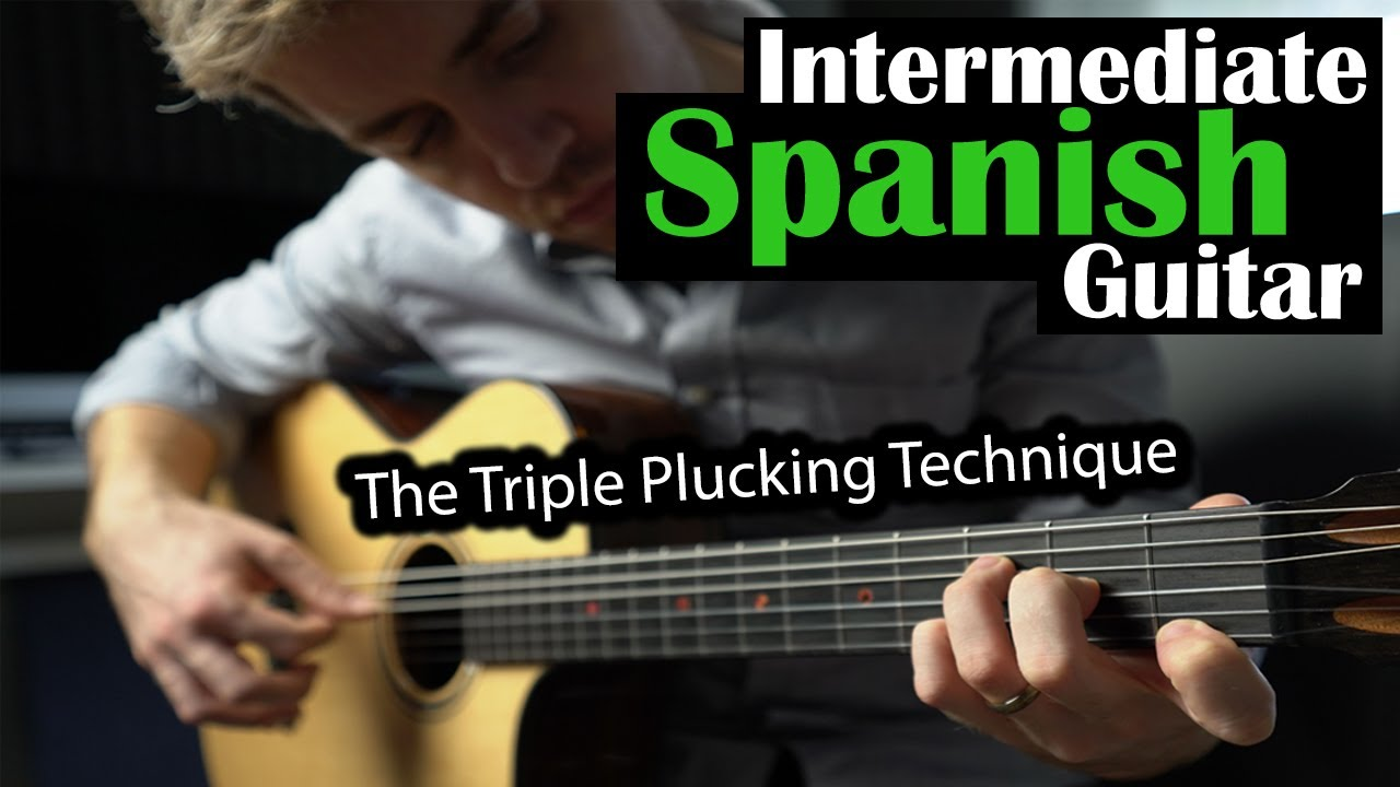 Intermediate Spanish Guitar With Triple Picking Technique (Warning: It Sounds Awesome)