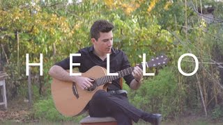 Video Hello - Adele (fingerstyle guitar cover by Peter Gergely) download MP3, 3GP, MP4, WEBM, AVI, FLV Oktober 2017