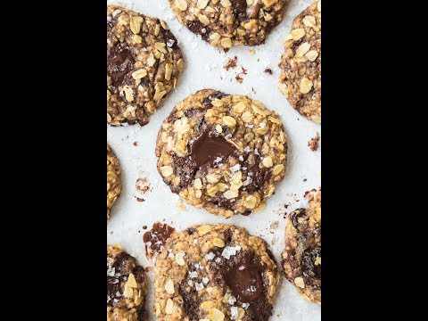How To Make Chocolate Chunk Spelt Oatmeal Cookies With Cherries And Hazelnuts