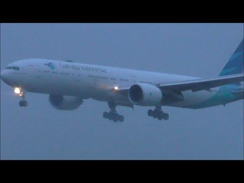 *New Service* Garuda Indonesia Boeing 777-300ER Landing RWY09L at London Heathrow Airport - 02/04/16