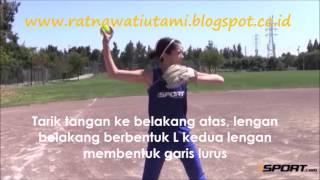 Cara melempar bola softball