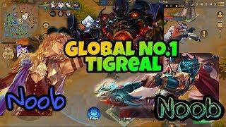 Global No.1 Tigreal with Two Noobest Assasin Mobile Legends Bang Bang