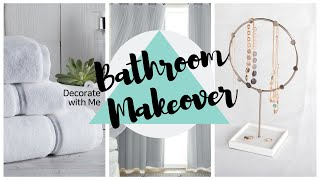 SIMPLE GLAM MASTER BATHROOM MAKEOVER| SMALL SPACE DECORATING IDEAS