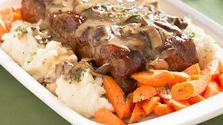 Mushroom Meatloaf With Mushroom Gravy