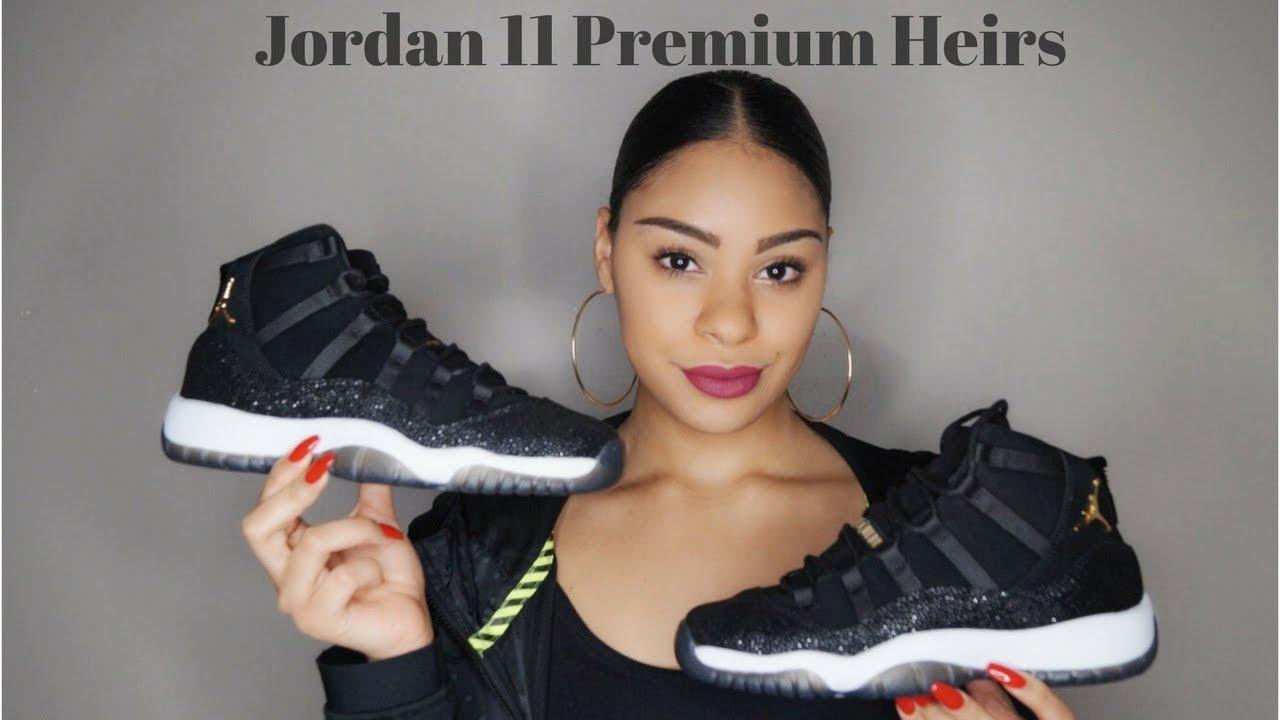JORDAN 11 PREMIUM HEIRESS REVIEW - YouTube