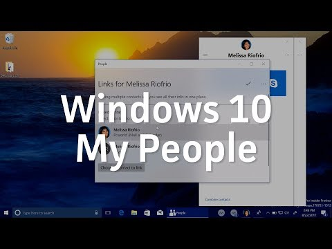 How to use Windows 10's My People