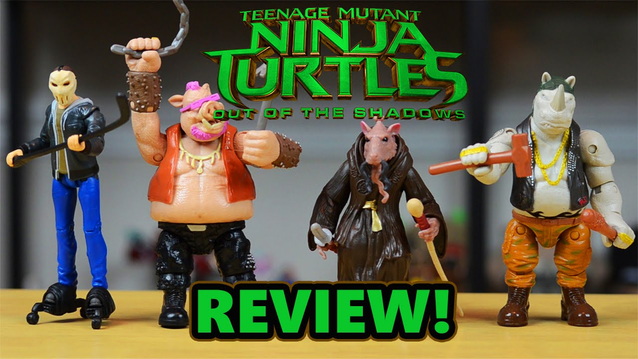 Tmnt Out Of The Shadows Mega Toy Review Rocksteady Bebop Splinter And Casey Jones Youtube