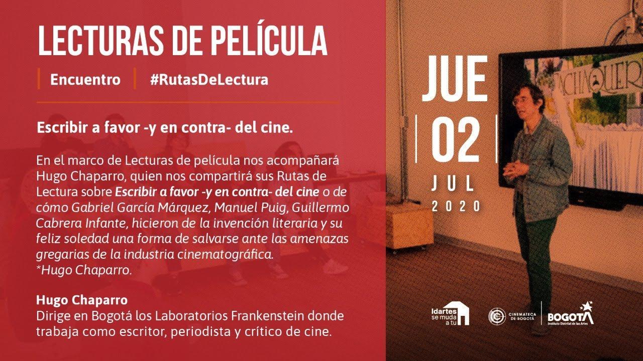 #LecturasDePelícula con Hugo Chaparro