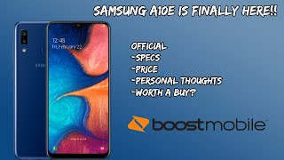 Samsung A10e Now on Boost Mobile Official Specs and Price