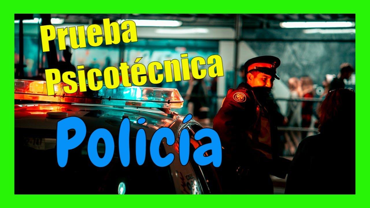 EXAMEN POLICA NACIONAL  PRUEBA PSICOTCNICA  YouTube