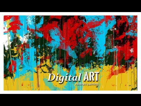Abstract Art | Digital Art | How to make digital Art | digital painting | Landscape Painting