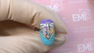 Дизайн ногтей стрекоза. Тренд лета 2017