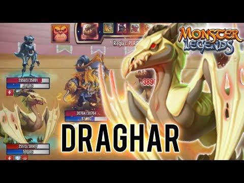 TORTURA Y DESHABILITACION De RASGO! - DRAGHAR - Monster Legends Review