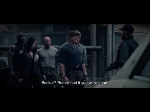 Chuck Norris scene in The Expendables 2 HD 720p