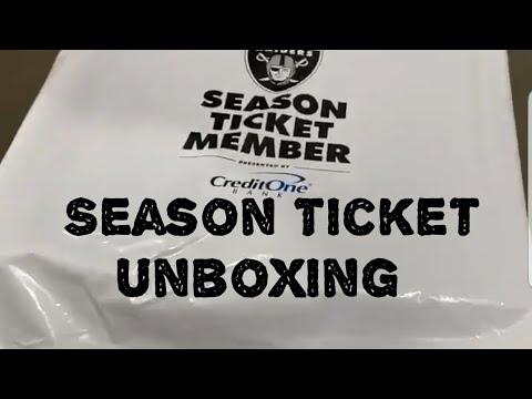 Las Vegas Raiders Season Ticket Unboxing And Raider News By Joseph Armendariz