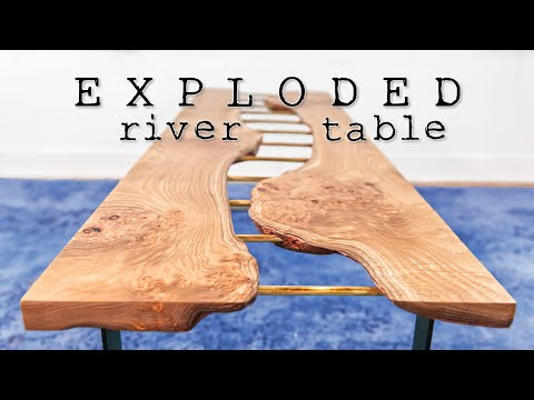 DIY Brass River Table || woodworking - how to make