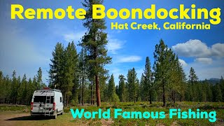 WE ARE BACK!! BOONDOCKING in Lassen National Forest on Upper Hat Creek near a VOLCANO.