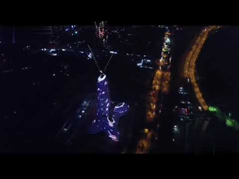 Fireworks Show at Guangxi New Media Center,China 广西新媒体中心烟火秀