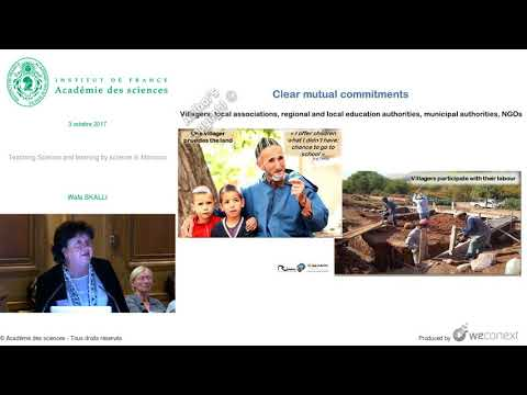 [Conférence] W. SKALLI - Teaching Science and learning by science in Morocco