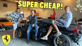 I Bought Another WRECKED Ferrari 458!! *SUPER CHEAP*