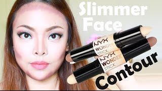 My Face Slimming Contour Routine - NYX Wonder Stick Demo & Review