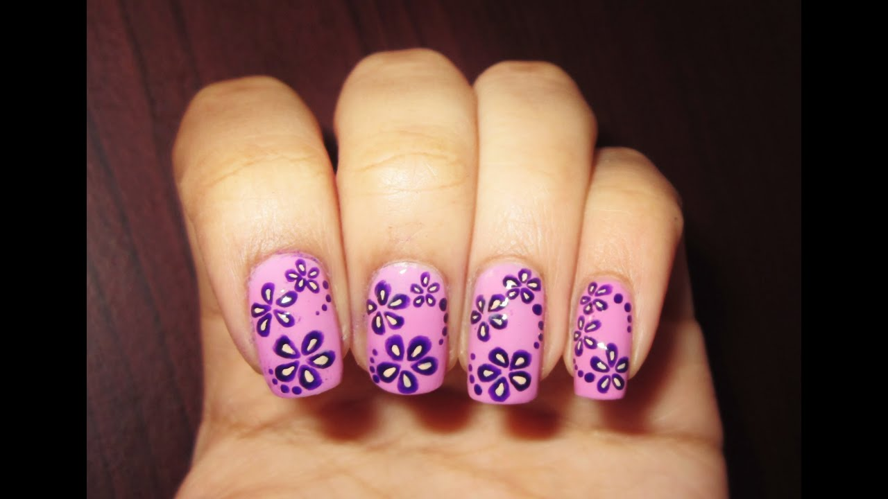 Flower Nail Art Youtube