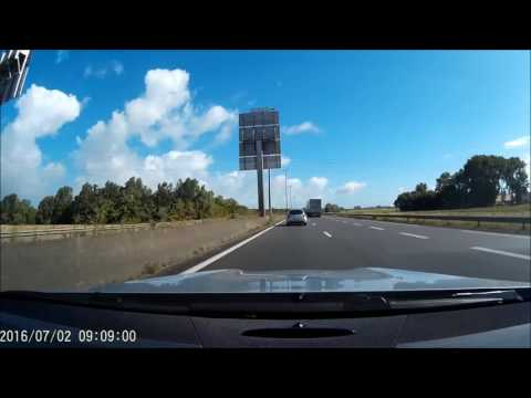 Road trip to Nurburgring Nordschleife. Part one, montage of the long journey.