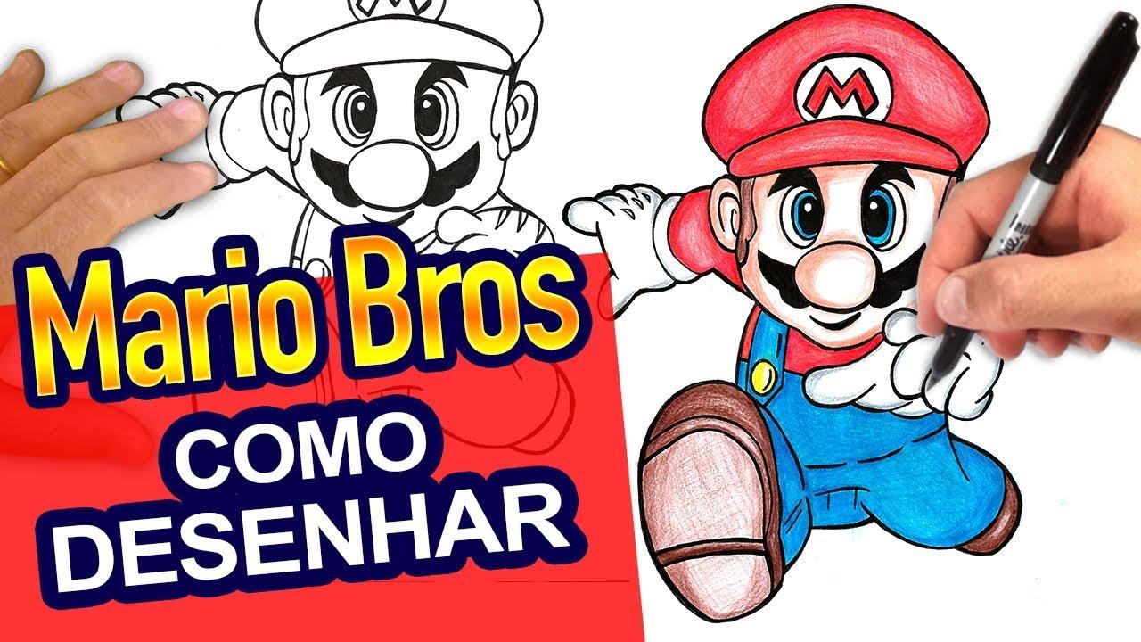 Como Desenhar O Mario Bros Passo A Passo How To Draw Mario