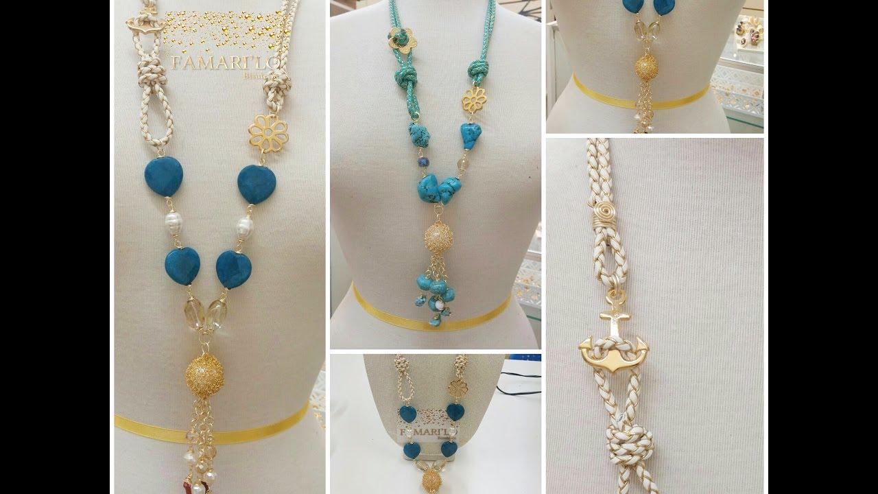 4fd63e77c773 Collar largo con perlas (bisuteria) - YouTube