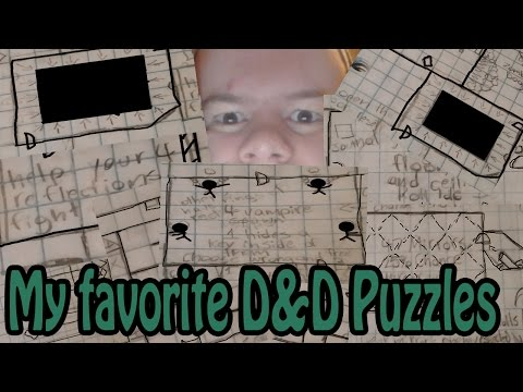 My favorite D&D puzzles (From my campaign)