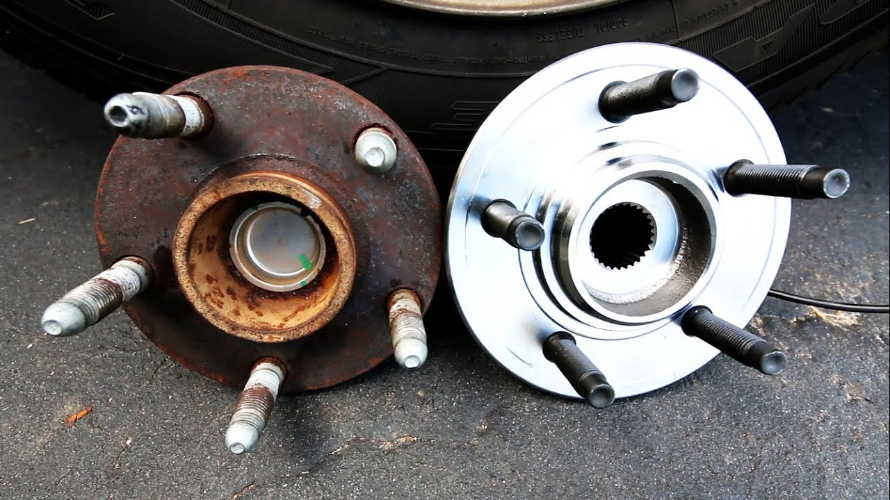 how to replace a front wheel bearing youtube 2000 lincoln town car front wheel bearing diagram [ 1280 x 720 Pixel ]
