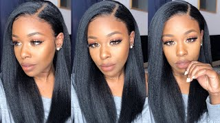 |Start to Finish| The Ultimate Everyday Wig, Kinky Straight, 6inch parting Dominique Wig  Myfirstwig