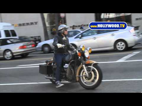 Ewan McGregor Rides Motorcycle in Beverly Hills