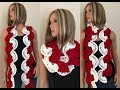 How to Crochet Swirl Fans Scarf Pattern #604│by ThePatternFamily