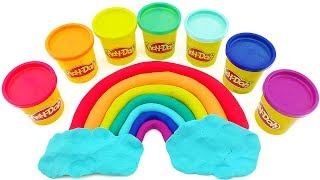 Сюрпризы.🌈Лепим радугу. Игрушки из мультиков. Мультик для детей. Учим цвета.